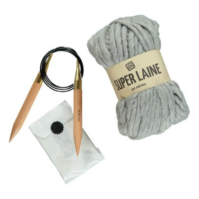 Peace and Wool Plaid DIY Knitting Kit-listing