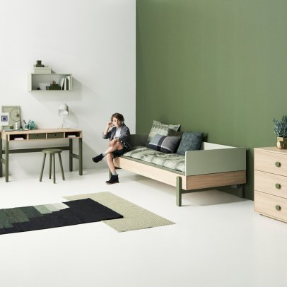 Flexa Play Popsicle Oak Bed With Bed Head and Foot 90x200cm-listing