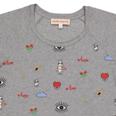 ANNE KURRIS Spice Embroidered T-Shirt-listing