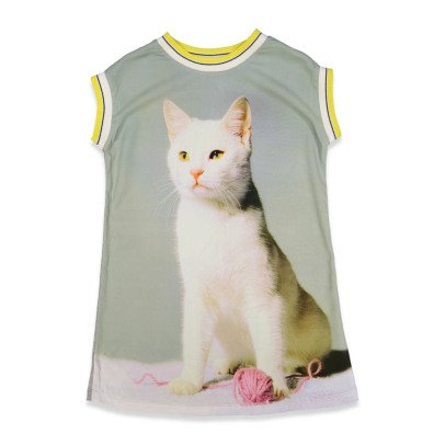 ANNE KURRIS Poster Cat T-Shirt Dress-listing