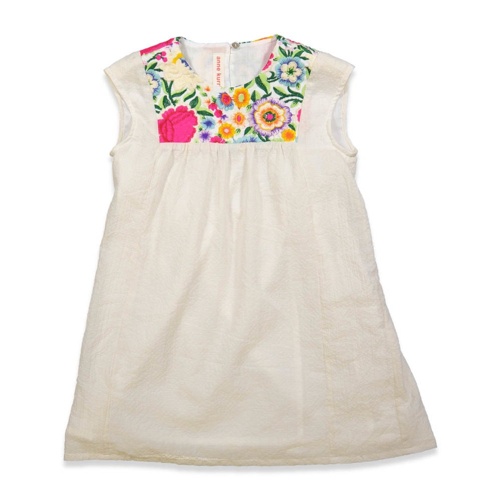 Sale - Ibiza Embroidered Flower Dress - ANNE KURRIS Anne Kurris