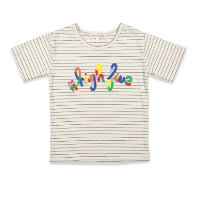 "ANNE KURRIS Lou ""High Five"" Striped T-Shirt-listing"