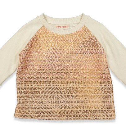 ANNE KURRIS Jungle Metallic Textured Sweatshirt-listing