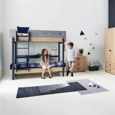 Letti a castello con scaletta 90x200 cm Bianco Hoppekids Design