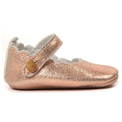 Tartine et Chocolat Scalloped Iridescent Leather Mary Janes-product