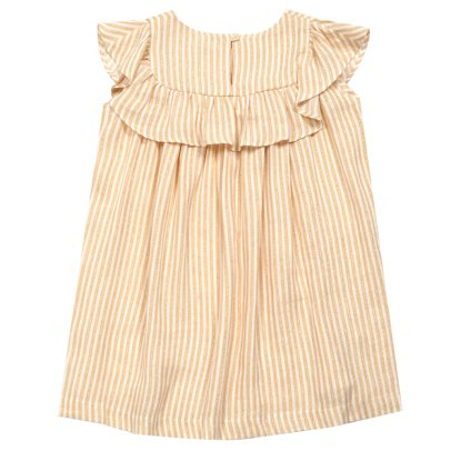 MAAN Casa Ruffled Lurex Stripe Dress-listing