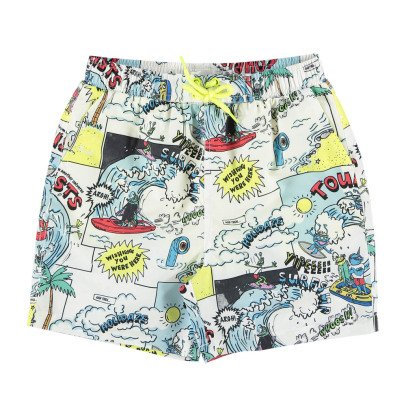 Stella McCartney Kids Taylor Comic Strip Swim Shorts-listing