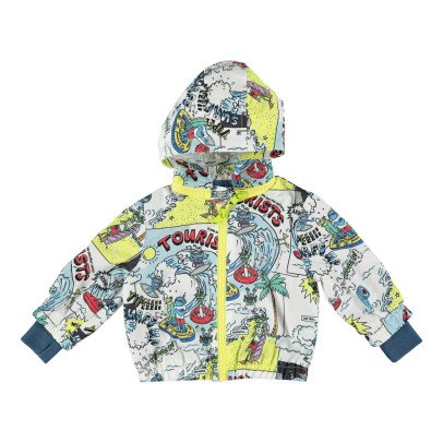 Stella McCartney Kids Scout Comic Strip Waterproof Windbreaker-listing