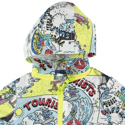 Stella McCartney Kids Giacca a vento impermeabile stampa fumetti Scout-listing