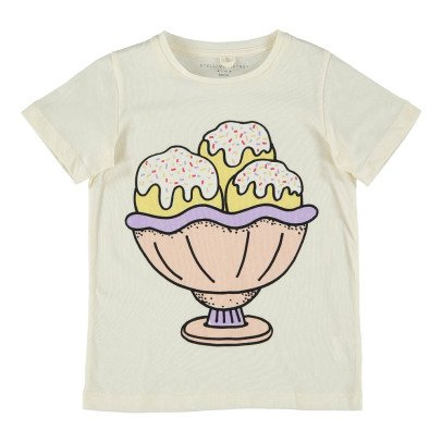 Stella McCartney Kids T-shirt Coton Bio Coupe Glace Lurex Arlow-product