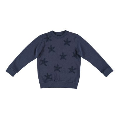 Stella McCartney Kids Sweat Coton Bio Etoiles de Mer Brodées Betty-listing