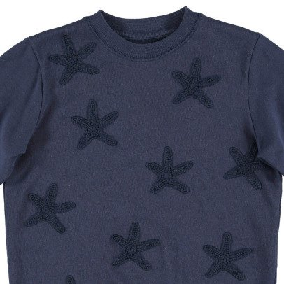 Stella McCartney Kids Betty Embroidered Star Fish Organic Cotton Sweatshirt-listing