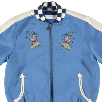 Stella McCartney Kids Eastwood Embroiderd Back Baseball Jacket-listing