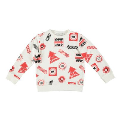 Stella McCartney Kids Biz Sign Organic Cotton Sweatshirt-listing