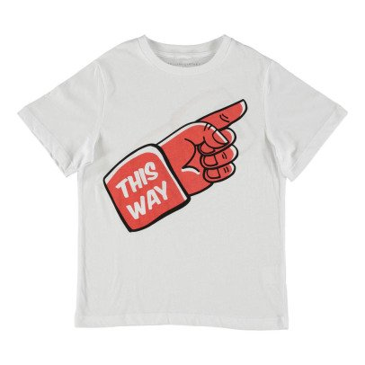"Stella McCartney Kids Arrow ""This Way"" Organic Cotton T-Shirt-listing"
