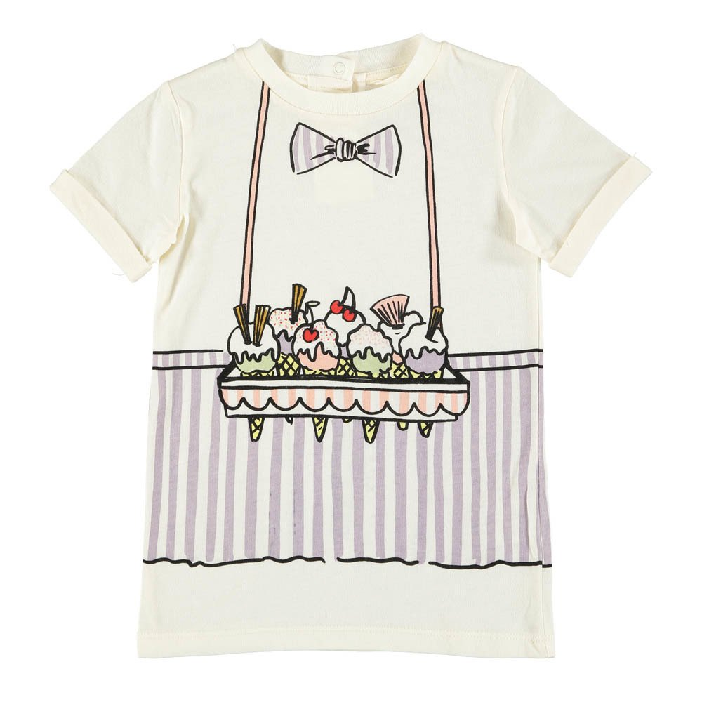 Sale - Georgie Ice Cream Spoon Organic Cotton T-Shirt - Stella McCartney Kids Stella McCartney Clearance Official Buy Cheap Pay With Paypal Deals Cheap Sale 2018 Discount 100% Guaranteed d4IkHkxT
