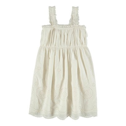 Stella McCartney Kids Anemone Broderie Anglaise Organic Cotton Dress-listing