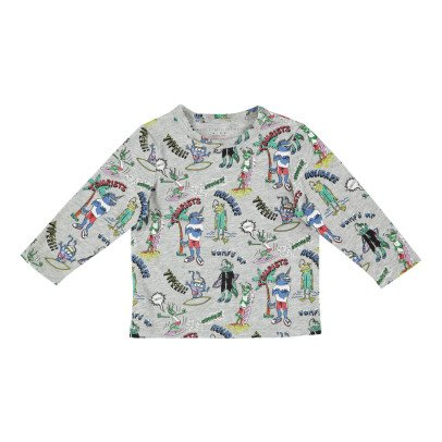 Stella McCartney Kids T-shirt Coton Bio Monstres Georgie-listing
