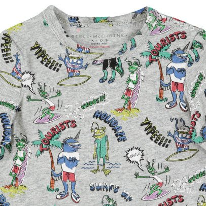 Stella McCartney Kids T-shirt Georgie in cotone bio stampa mostri -listing