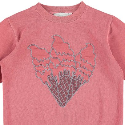 Stella McCartney Kids Sweat Coton Bio Cornets Glaces Brodés Betty-listing