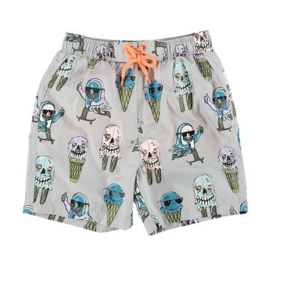 Stella McCartney Kids Taylor Water Colour Changing Ice Cream Swim Shorts-listing