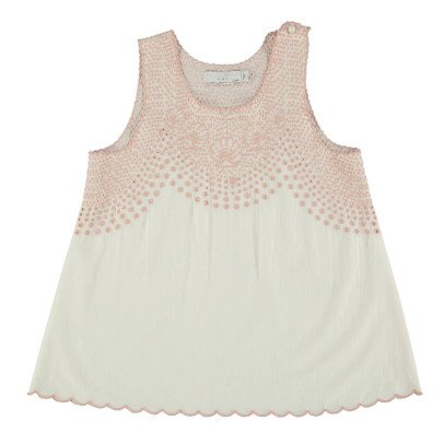Stella McCartney Kids Adriana Broderie Anglaise Organic Cotton Top-listing