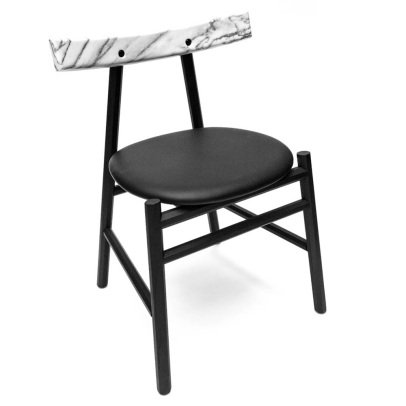 La Chance Ronin Wood & Marble Chair, Werner & Emil Lagoni Valbak-product