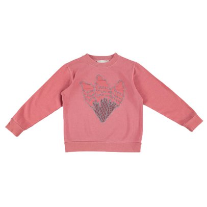 Stella McCartney Kids Felpa Betty in cotone bio con ricamo coni gelato-listing