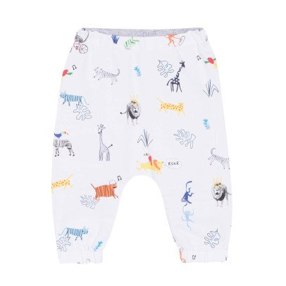 Paul Smith Junior Harem pants double face Ross stampa animali-listing