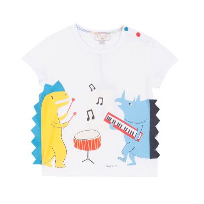 Paul Smith Junior T-shirt Dinosaures Musiciens Renard-product