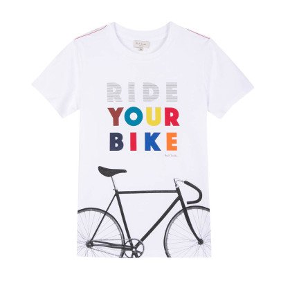 Paul Smith Junior Reflektierendes T-Shirt Ride Rajah  -listing