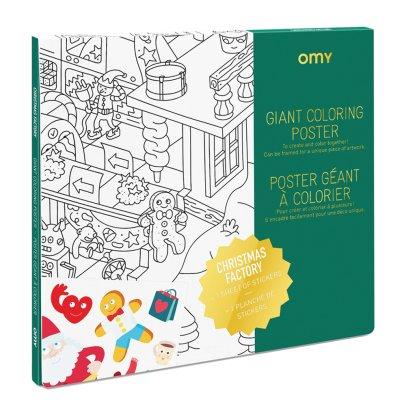 Omy Father Christmas's Workshop Giant Colouring Poster-listing