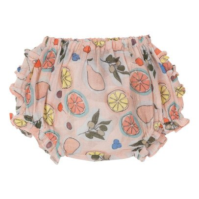 Velveteen Bloomer stampa frutti con volant Cecily -listing