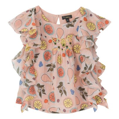 Velveteen Blouse Fruits Volants Vivi-product