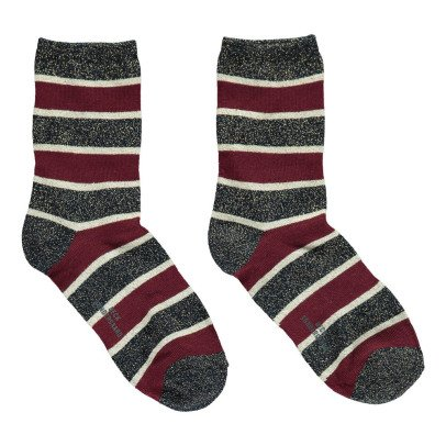 Beck Sönder Gaard Dory Striped Lurex Socks-listing