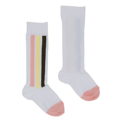 Velveteen Laurie Striped Knee Socks-listing