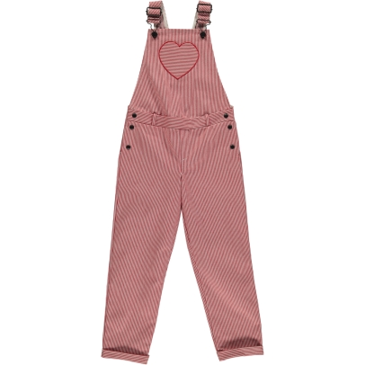 Blune Kids Jump Street Heart Striped Dungarees-listing