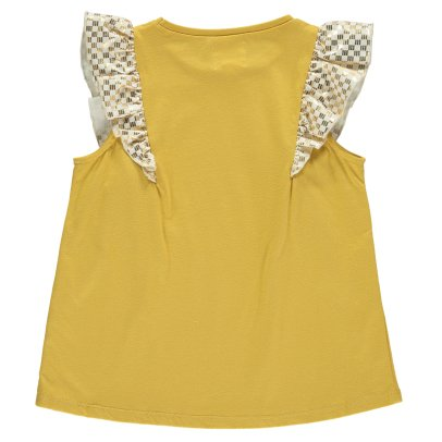 Blune Kids New Wave Gold Ruffled Top-listing