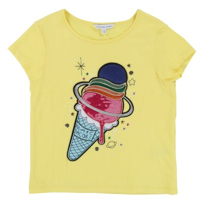 Little Marc Jacobs T-Shirt mit Pailletten Ice Cream -listing