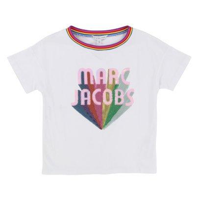 Little Marc Jacobs Sequin Rainbow T-Shirt-listing
