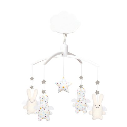 Trousselier Mobile musical ange lapin étoiles-listing