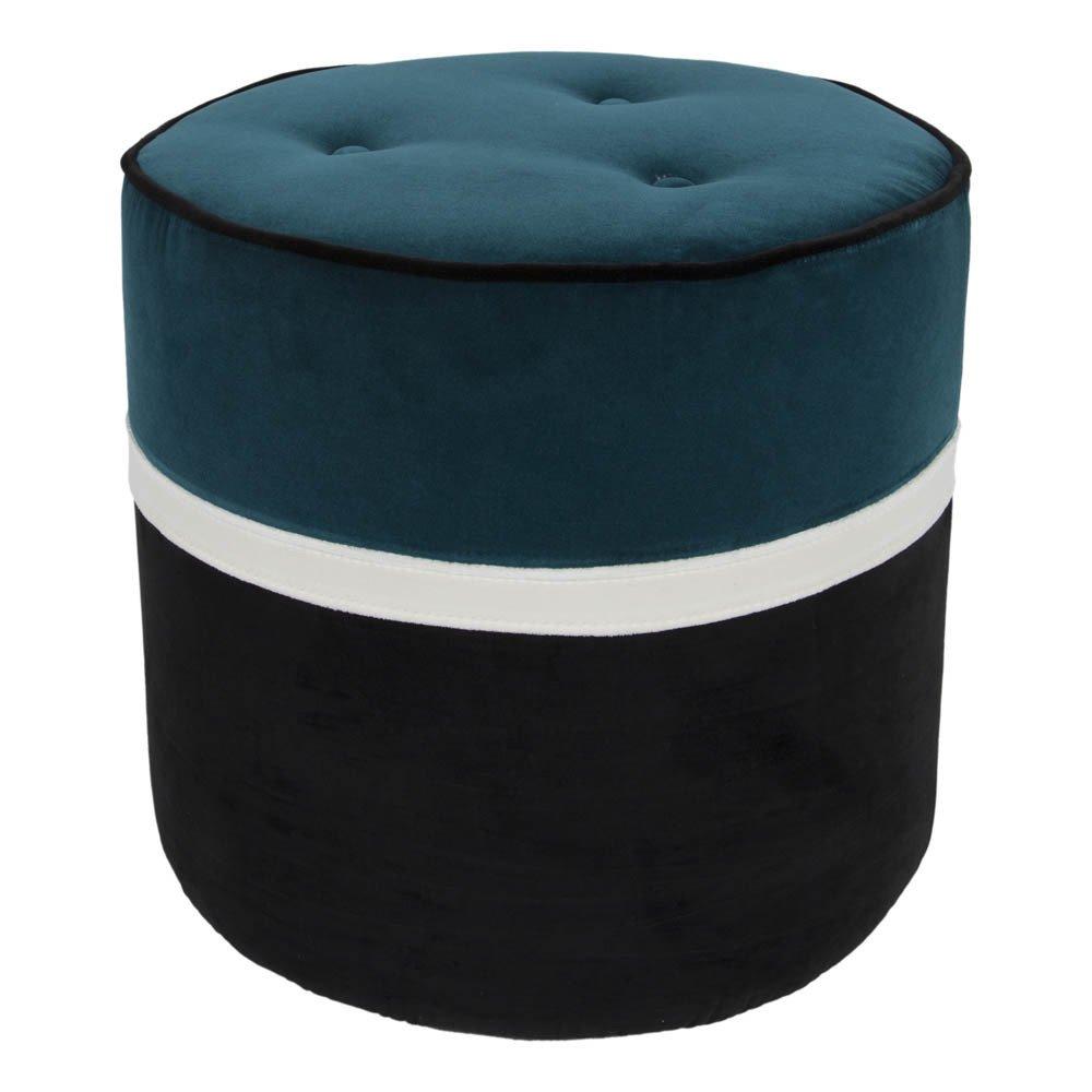 pouf l o en velours radis noir maison sarah lavoine design. Black Bedroom Furniture Sets. Home Design Ideas