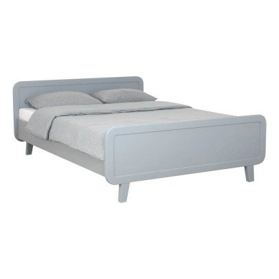 Laurette Round Bed 140x200cm - Light Grey-listing