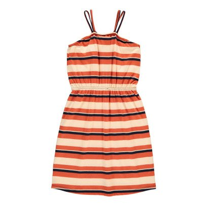 Hundred Pieces Striped Maxi Dress-listing