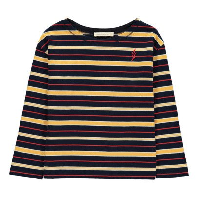 Hundred Pieces Flash Long Sleeve Striped T-Shirt-listing