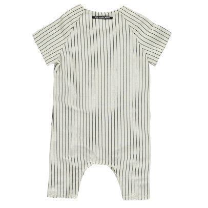 Little Creative Factory Tap Striped Linen Jumpsuit-listing