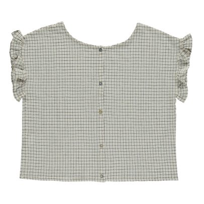 Emile et Ida Ruffled Check Blouse - Women's Collection-product