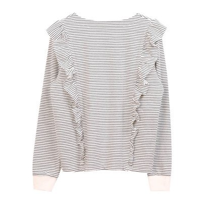 Emile et Ida Ruffled Stripe Sweatshirt - Women's Collection-listing