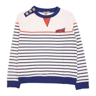 "Emile et Ida ""Bang"" Striped Sweatshirt-product"