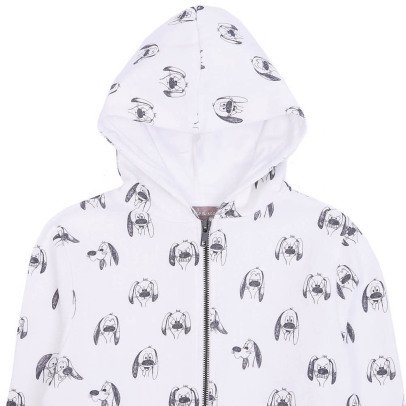 Emile et Ida Dog Zip-Up Hoodie-listing